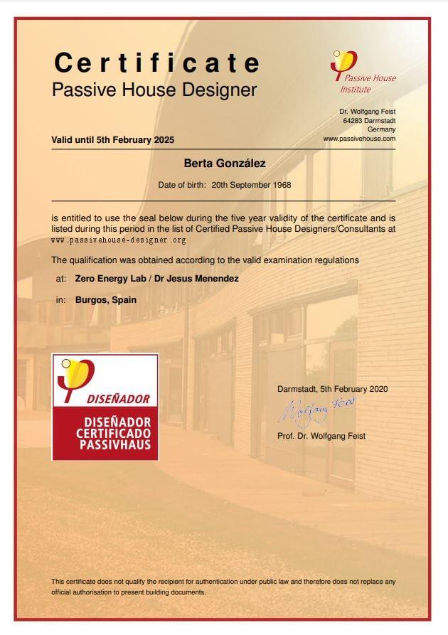 arquitecto passivhaus valladolid certificado
